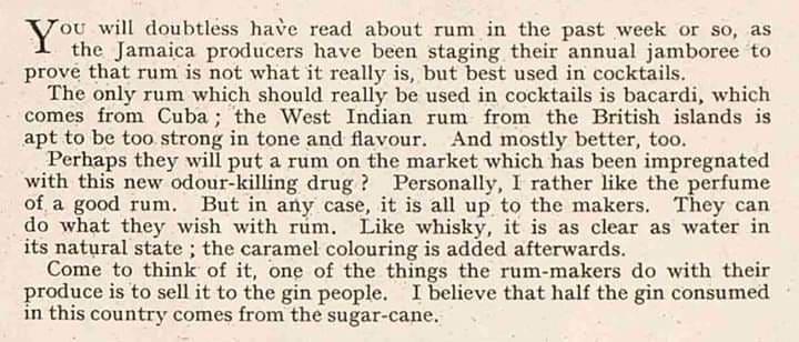 Il Rum nella pubblicità anni Cinquanta